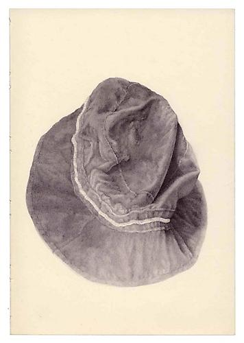 Untitled (Hat), 2005, ballpoint on paper,8 x 5.5 inches
