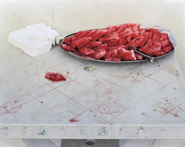 Watermelon , 2010 Chromogenic color print 40 x 34 inches (101.5 x 86.5 cm) Edition of 5