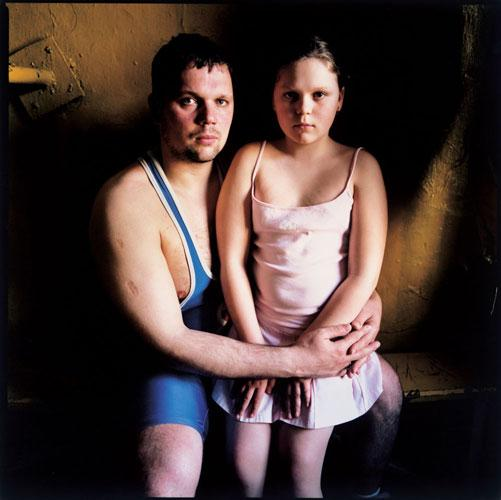 Anjey and Daughter, Russia , 2007 C-Print 37 x 37 inches Edition of 7