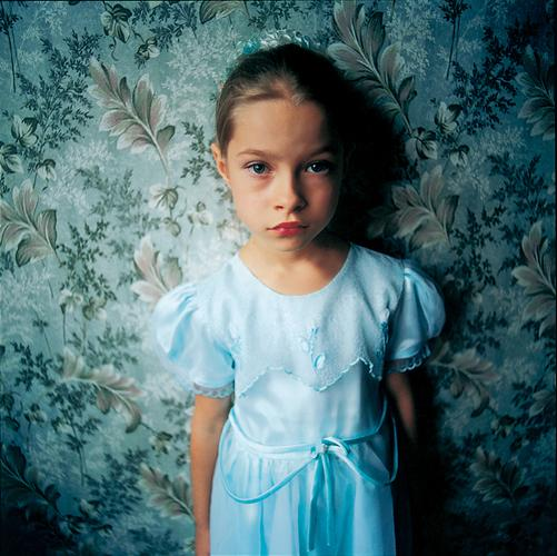 Jenya in my Hotel Room, Ukraine , 2005 C-Print 37 x 37 inches Edition of 5