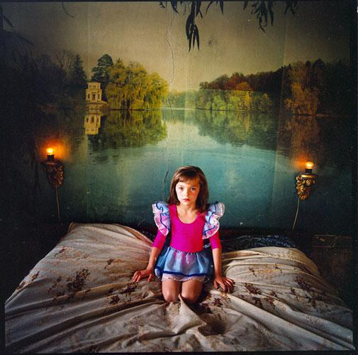 Alona in the Bedroom, Ukraine , 2006 C-Print 37 x 37 inches Edition of 5