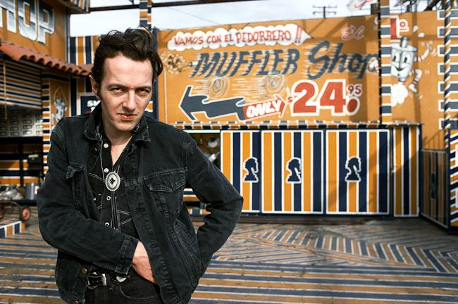 Kate Simon, joe strummer, LA, 1988