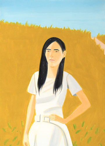 Mie Alex Katz, 2009 oil on linen 48 x 66 inches