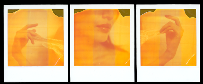 """To Thinly Veil"" (Triptych) Kevin Kay, 2011 Three unique Polaroids 4.25 x 3.5 inches  (each)"