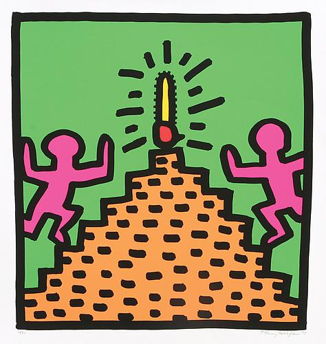 "Keith Haring ""Untitled,"" 1985 Screenprint on paper Ed. 50 22 x 24 inches"
