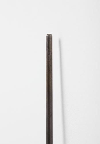 Lean , 2012, detail, steel, magnet, wall, edition of three
