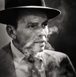 Herman Leonard, Frank Sinatra, New York City [smoke] 1956