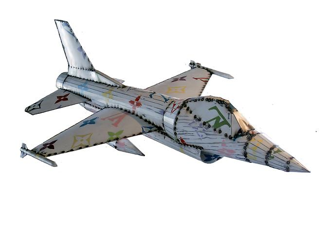 LVF-16 (Corporate Jet Series), 2011 Sheetmetal and paint Unique 87 x 58 inches