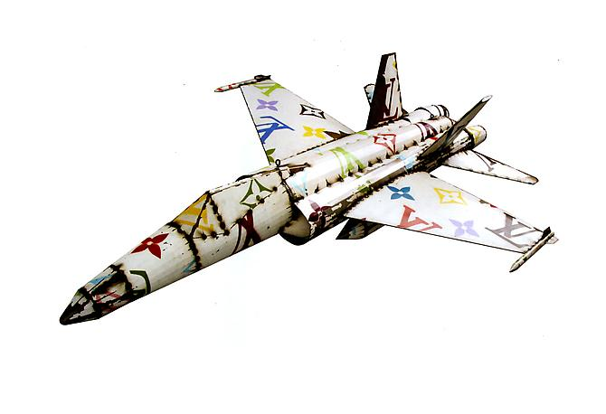 LVF-18 (Corporate Jet Series), 2011 Sheetmetal and paint Unique 89 x 66 inches