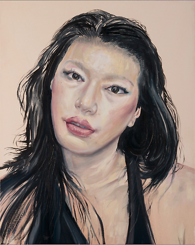 Portrait of Mie  Noah Becker, 2011 oil on canvas 24 x 40 inches