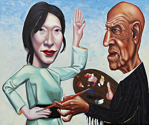 Alex Katz and Mie the Muse Tom Sanford, 2011
