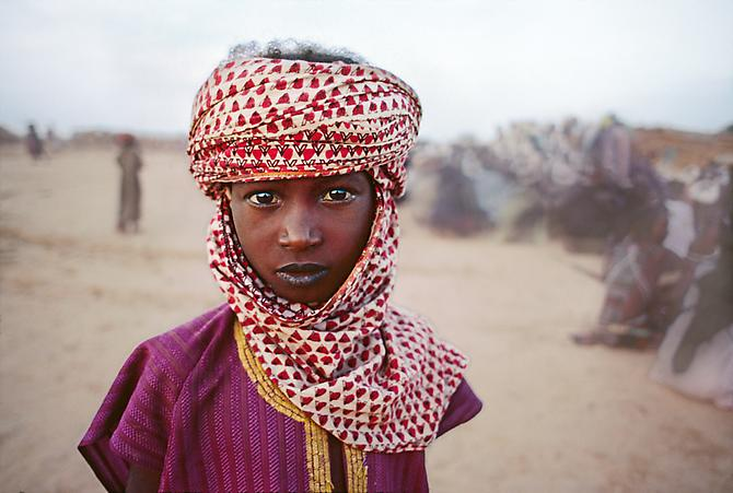 Boy in Red and White Scarf, The Sahel, Bamako, Mali, Africa 1988 C-type print on Fuji Crystal Archive paper