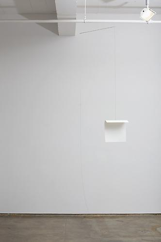Stability Study (paper) , 2012, magnet, steel, wire, paper, 21 inches wide (height to ceiling adjustable)