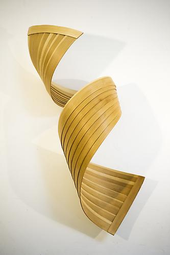 Phonic, 2013 Natural poplar wood 41 x 12 x 12 inches