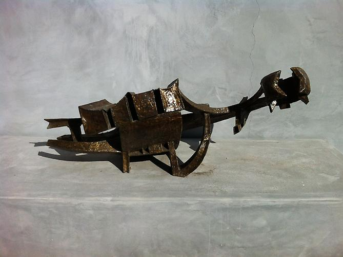 Celestial Probe, 1963 Welded brass  19 x 42 x 21 inches