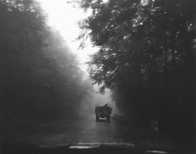 Untitled, (Car Driving away down Road) 2003 gelatin silver print