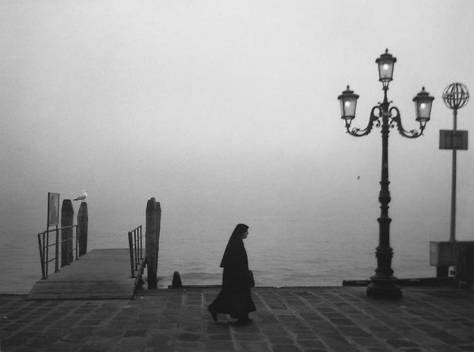 Untitled (Nun Walking along River Bank) 2000 Gelatin Silver Print