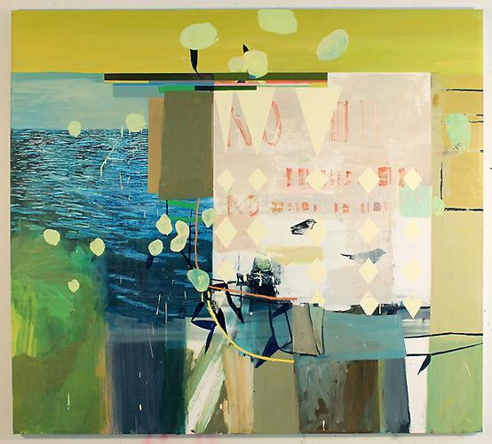 Picnic , 2011 Silkscreen, oil on canvas  72 x 80 inches