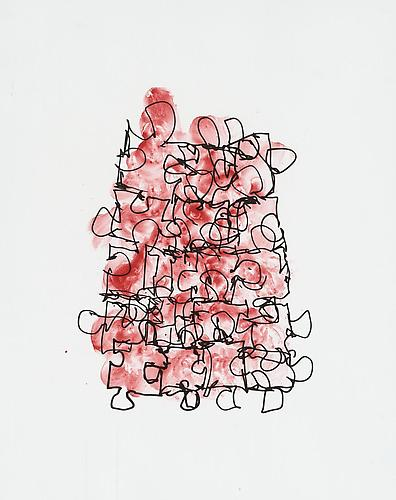 Puzzle 6, 2011 2 color lithograph (edition 6 of 35) 22 x 17 inches $1,500 plus $310 frame