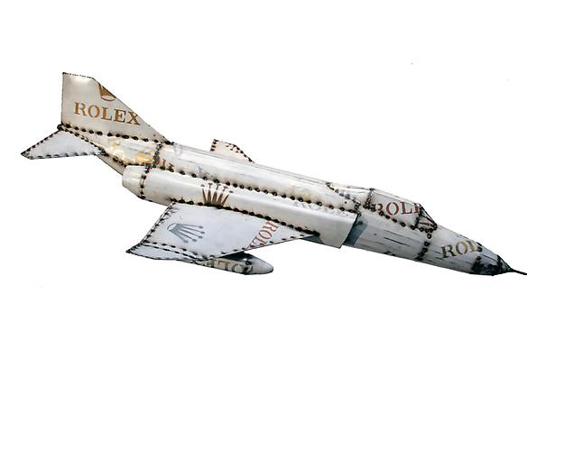 RF-4 (Corporate Jet Series), 2012 Sheetmetal and paint Unique 64 x 45 inches
