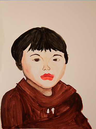 Mie, age 4 Rudy Shepherd watercolor on paper 9 x 12 inches