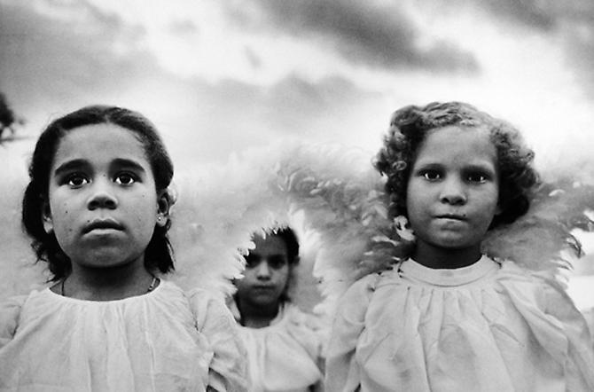Three Communion Girls, Juazeiro do Norte, Brazil 1981 Gelatin Silver Print