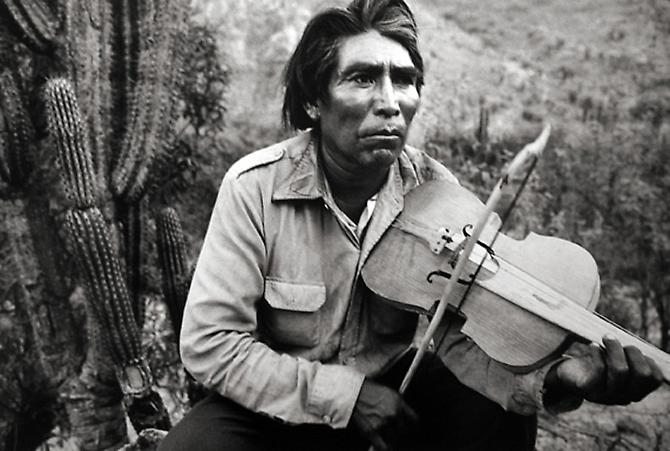 Mexico, Man with Violin 1984 gelatin silver print