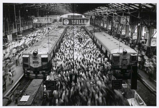 Church Gate Station, Western Railroad Line, Bombay, India 1990 Gelatin Silver Print