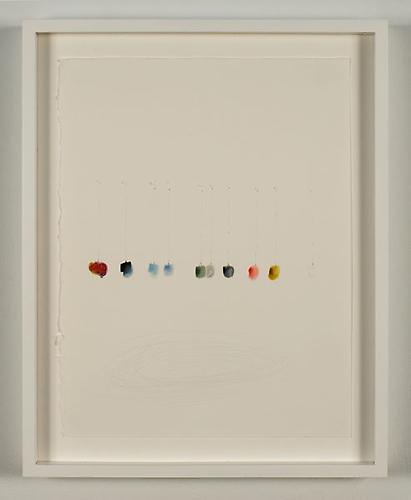 Eduardo Santiere, In the right time, in the right place, 2009 Graphite and colored pencil on paper, scratching, 15 x 11.3 inches