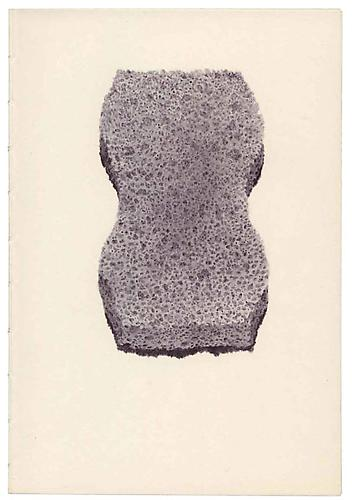 Untitled (Sponge), 2005, ballpoint on paper, 8 x 5.55 inches