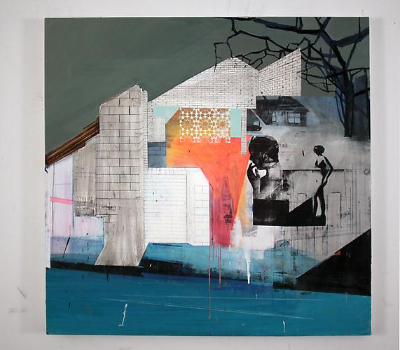 Suburban Vampyre , 2010 Silkscreen, oil on canvas 58 x 60 inches