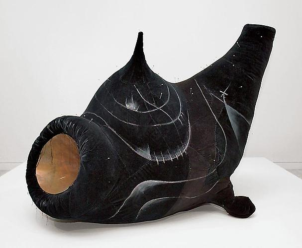 Pincushion to Serve as Fetish, 1979  Black velvet, wood, metal, paint and copper, 46 ¼ x 54 1/8 x 48 ¼ in. Dallas Museum of Art,Texas