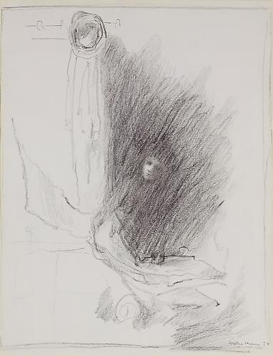 Solitary Too, 1974  Pencil on paper, 19 1/2 x 13 7/8 in.  Price upon request