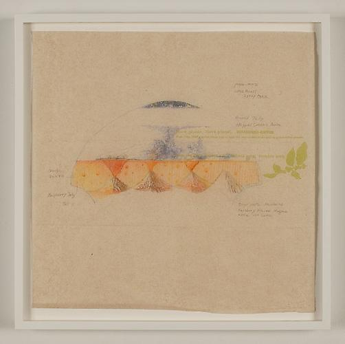 Yuken Teruya, Dessert Project (Starbucks), 2009 Graphite and colored pencil on napkin, 12.75 x 12.75 inches
