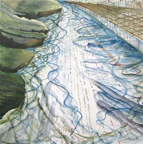 Judith Belzer, Through Lines #31 (2011) Oil On Canvas 56h x 56w in (142.24h x 142.24w cm)
