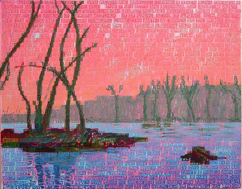 The River , 2012 Acrylic on canvas 42 x 54 inches