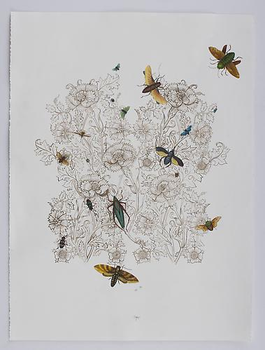 "Anda Dubinskis, 2010  Hoppers , gouache on paper 30"" x 22"""