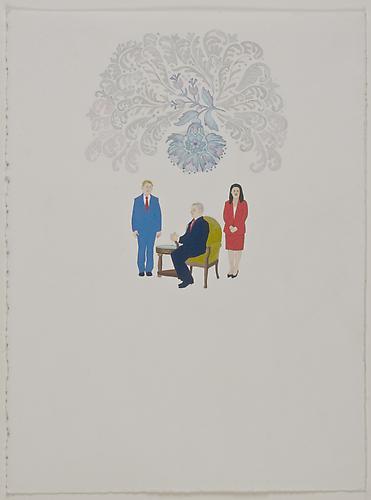 """Anda Dubinskis, 2010  Promises , gouache on paper 14"""" x 10"""""""