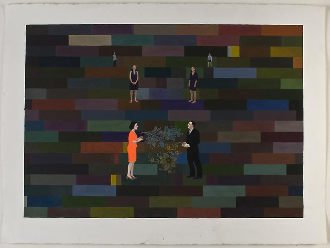 "Anda Dubinskis, 2010  What I Am Telling You , gouache on paper 22"" x 30"""