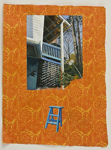 "Anda Dubinskis, 2011  What She Does (Upstairs Porch) , gouache on paper 22"" x 15"""