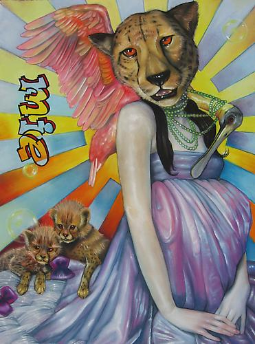 me. Mie. Me. Barnaby Whitfield, 2011 pastel, acrylic and color pencil on paper 30 by 22.5 inches