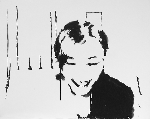 Mie, New York, November 25, 2011 Nicole Wittenberg, 2011 Ink on paper mounted on panel 19 x 24 inches