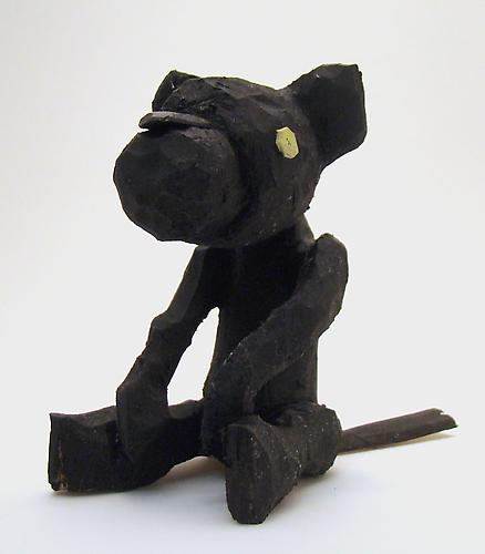 Andrew Smenos  Black Cat , 2012 Basswood 5 x 4 x 3 inches