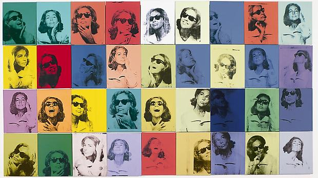 Andy Warhol, &quot;Ethel Scull 36 Times,&quot; 1963. Acrylic and silkscreen on canvas, 100 x 144 inches. The Metropolitan Museum of Art, Jointly owned by the Whitney Museum of American Art and The Metropolitan Museum of Art; Gift of Ethel Redner Scull, 2001 (2001.614a-jj). Photograph  2001 The Metropolitan Museum of Art /  2010 The Andy Warhol Foundation for the Visual Arts / Artists Rights Society (ARS), New York Image