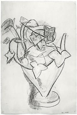 """Henri Matisse, """"Vase de Lierre,"""" c. 1915 Charcoal on paper, 22 x 14 3/4 inches Image"""