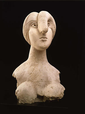 "Pablo Picasso, ""Bust of a Woman,"" 1931 Plaster, 30 3/4 inches high Collection of Mr. and Mrs. Herbert Klapper Image"