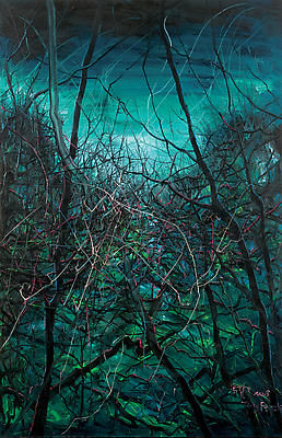"Zeng Fanzhi, ""Untitled 08-4-9"" 2008 Oil on canvas 110 1/4 x 70 7/8 inches (280 x 180 cm) Image"