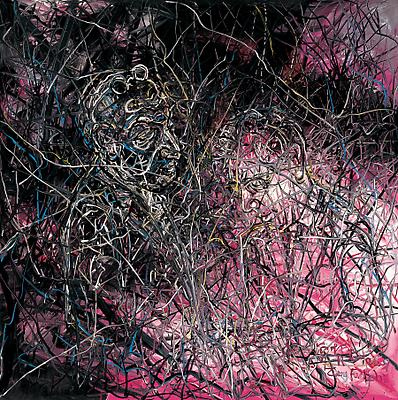 """Zeng Fanzhi, """"Untitled 09-3-2""""  2009 Oil on canvas 59 x 59 inches (150 x 150 cm) Image"""