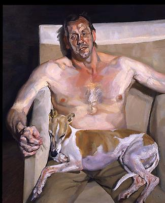 "Lucian Freud, ""Eli and David,"" 2005-6 Oil on canvas, 56 x 46 inches Image"