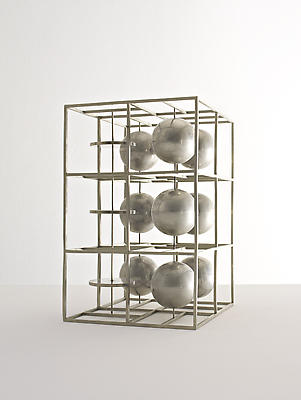 """Fausto Melotti, """"Sculpture no. 21,"""" 1935 Nickel-plated iron,  21 5/8 x 13 3/4 x 13 3/4 inches Private Collection Image"""